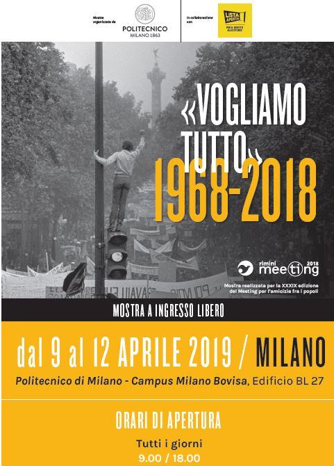 Politecnico Milano Calendario.Vogliamo Tutto 1968 2018 Milano Mi 09 04 2019 12 04